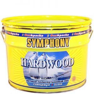 """Фото 5 - Лак яхтный Симфония """"Хардвуд"""" (Hardwood) полиуретановый для деревянных поверхностей с УФ-фильтром (глянцевый)(9 л) """"Symphony""""."""