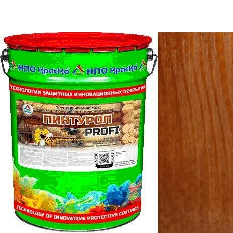 """Фото 1 - Пинтурол PROFI - защитно-декоративное покрытие для дерева с натуральным маслом и воском """"Цвет - Абрикос"""" """"Вес - 15 кг"""" """"КрасКо""""."""