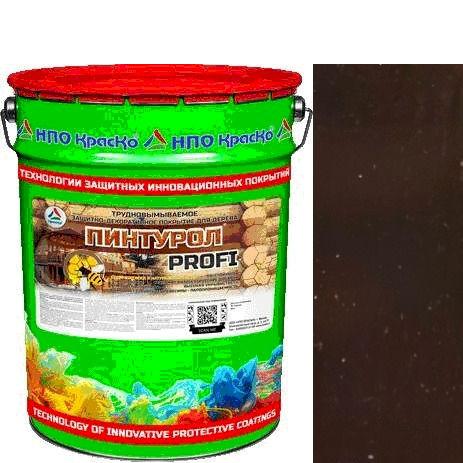 """Фото 15 - Пинтурол PROFI - защитно-декоративное покрытие для дерева с натуральным маслом и воском """"Цвет - Палисандр"""" """"Вес - 15 кг"""" """"КрасКо""""."""