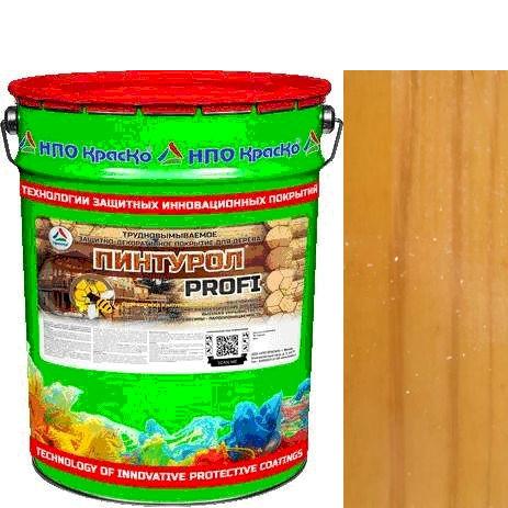"""Фото 17 - Пинтурол PROFI - защитно-декоративное покрытие для дерева с натуральным маслом и воском """"Цвет - Сосна """"Вес - 15 кг"""" """"КрасКо""""."""