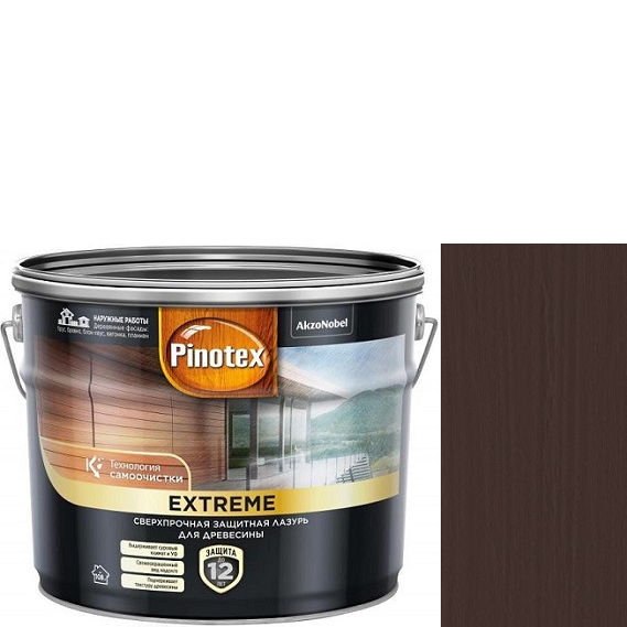 """Фото 5 - Краска """"Pinotex Extreme"""" Палисандр полуматовая с эффектом самоочистки для  древесины  (2,5 л) """"Пинотекс""""."""