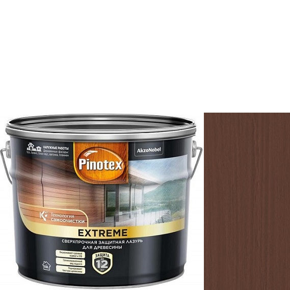 """Фото 7 - Краска """"Pinotex Extreme"""" Тик полуматовая с эффектом самоочистки для  древесины  (2,5 л) """"Пинотекс""""."""