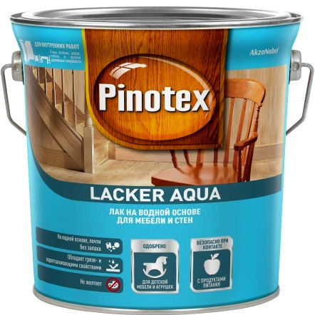 "Фото 12 - Лак ""Pinotex Lacker Aqua 70"" глянцевый на водной основе для дерева  (2,7 л) ""Пинотекс""."