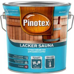 """Фото 1 - Лак для Саун """"Pinotex Lacker Sauna 20"""" полуматовый на водной основе для дерева  (1 л) """"Пинотекс""""."""