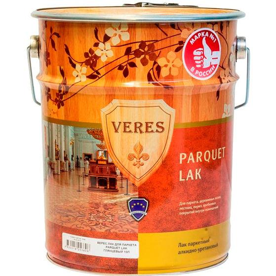 """Фото 7 - Лак Верес """"Паркетный"""" декоративно-защитный, алкидно-уретановый однокомпонентный [Бесцветный]-[Полуматовый]-[уп. 4 шт по 2,5 л] """"Veres""""."""