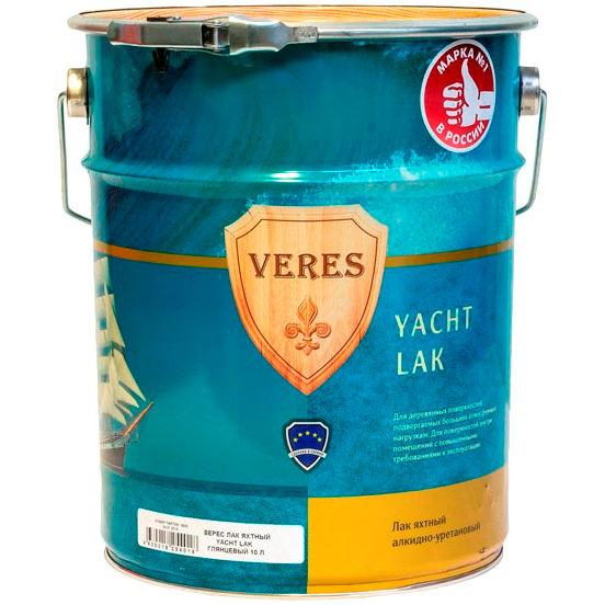 """Фото 9 - Лак Верес """"Яхтный"""" на алкидно-уретановой основе однокомпонентный [Бесцветный]-[Глянцевый]-[уп. 4 шт по 2,5 л] """"Veres""""."""