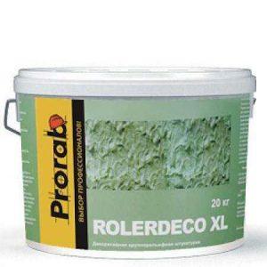 """Фото 1 - Покрытие Прораб """"Ролердеко XL"""" (Rolerdeco XL) текстурное крупнорельефная """"крупная шуба"""" (20 кг, MCL J023) """"Prorab""""."""