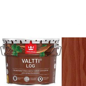 """Фото 4 - Антисептик Тиккурила """"Валтти Лог"""" (Valtti log) Красное дерево, для обработки бревен  (Красное дерево) (9л) """"Tikkurila""""."""