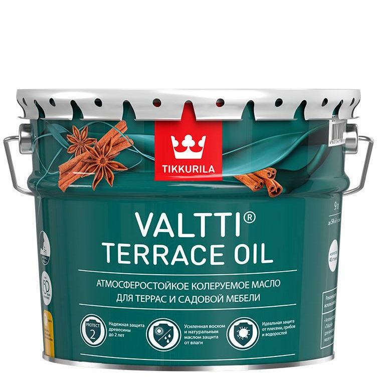 """Фото 7 - Масло Тиккурила """"Валтти Террас Ойл"""" EC (Valtti terrace oil) для террас и садовой мебели  (Коллеруемый) (2.7л) """"Tikkurila""""."""