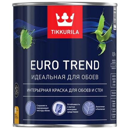 "Фото 11 - Краска Тиккурила ""Евро Тренд"" (Euro Trend) для обоев и стен матовая  (База А) (2.7л) ""Tikkurila""."