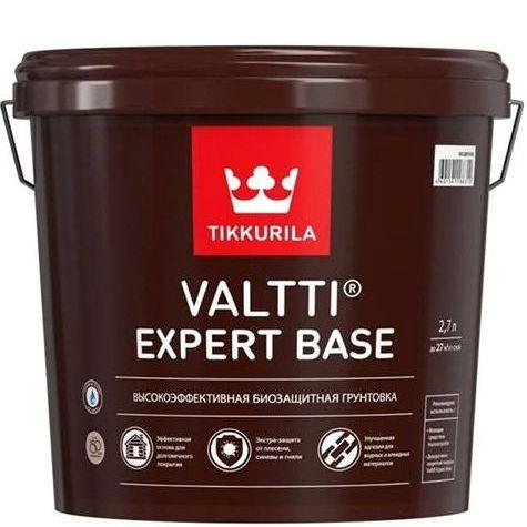 """Фото 11 - Грунтовка Тиккурила """"Валтти Эксперт База"""" (Valtti Expert Base) высокоэффективная биозащитная  (Бесцветный) (2.7л) """"Tikkurila""""."""