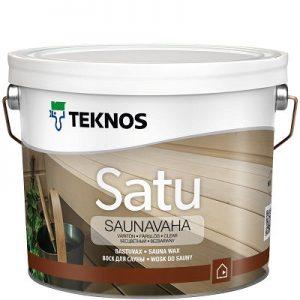"""Фото 1 - Воск Текнос """"Сату Саунаваха"""" (Satu Saunavaha) защитное средство для сауны (0.9 л) """"Teknos"""" ( белый)."""
