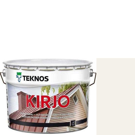 """Фото 19 - Краска Текнос """"Кирьё"""" T2501 (Kirjo) алкидная полуматовая для листовой кровли (2.7 л) """"Teknos""""."""