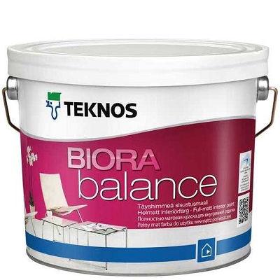 """Фото 18 - Краска Текнос """"Биора Баланс"""" (Biora Balance) акрилатная совершенно матовая для внутренних работ (база РМ1) ( 2.7 л) """"Teknos""""."""