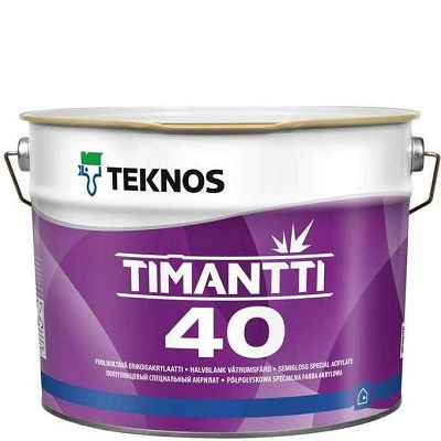 "Фото 1 - Краска Текнос ""Тиманти 7"" (Timantti 7) акрилатная для внутренних стен и потолков (база РМ1) ( 2.7 л) ""Teknos""."