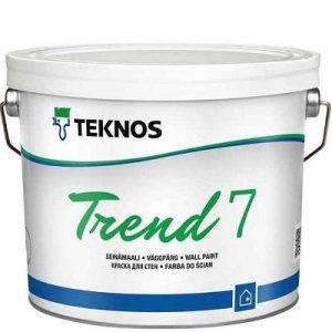 """Фото 3 - Краска Текнос """"Тренд 7"""" (Trend 7) дисперсионная акрилатная матовая для внутренних работ (база РМ1) ( 2.7 л) """"Teknos""""."""