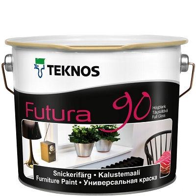 """Фото 7 - Краска Текнос """"Футура 90"""" (Futura 90) уретано-алкидная глянцевая желеобразная универсальная (база РМ1) ( 2.7 л) """"Teknos""""."""