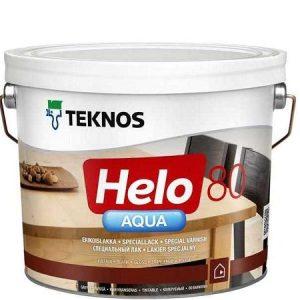"""Фото 5 - Лак Текнос """"Хело Аква 80"""" (Helo Aqua 80) водоразбавляемый глянцевый для деревянных поверхностей (2.7 л) """"Teknos""""."""
