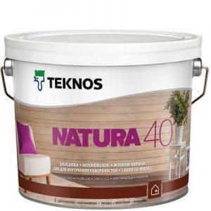 """Фото 3 - Лак Текнос """"Натура 40"""" (Natura 40) акриловый полуглянцевый для внутренних поверхностей (2.7 л) """"Teknos""""."""