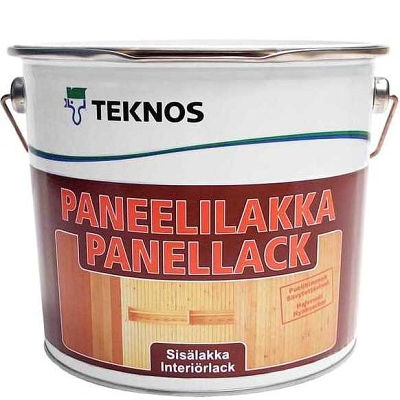 """Фото 11 - Лак Текнос """"ПанеллиЛак Текноска"""" (Paneelilakka) водоразбавляемый полуматовый дисперсионный для панелей (2.7 л) """"Teknos""""."""