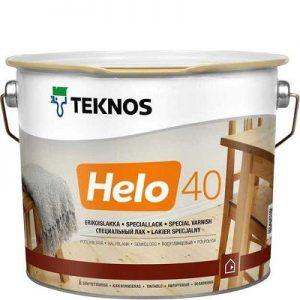 """Фото 3 - Лак Текнос """"Хело 40"""" (Helo 40) уретано-алкидный полуглянцевый для деревянных поверхностей (2.7 л) """"Teknos""""."""