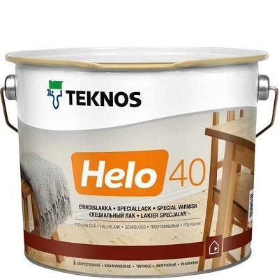 """Фото 18 - Лак Текнос """"Хело 40"""" (Helo 40) уретано-алкидный полуглянцевый для деревянных поверхностей (2.7 л) """"Teknos""""."""