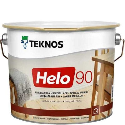 """Фото 1 - Лак Текнос """"Хело 90"""" (Helo 90) уретано-алкидный глянцевый для деревянных поверхностей (9 л) """"Teknos""""."""