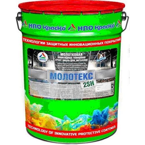 """Фото 15 - Молотекс 2SH - молотковая эпоксидная глянцевая грунт-эмаль """"3 в 1"""" для черных и цветных металлов  """"Цвет - Серый"""" """"Вес - 10 кг"""" """"КрасКо""""."""
