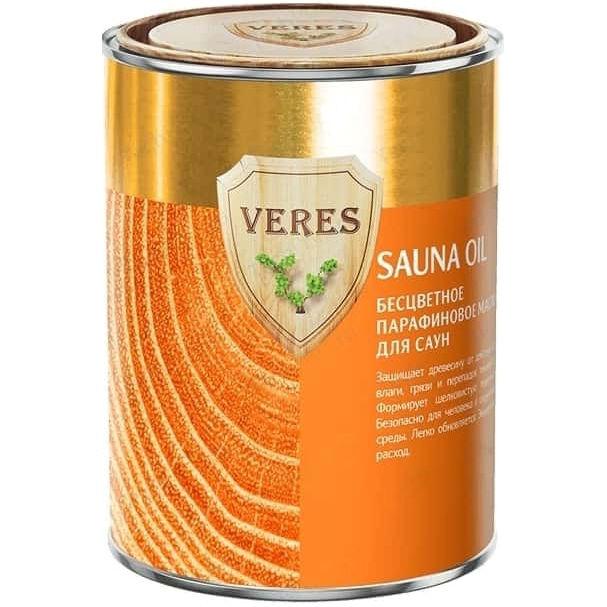 """Фото 18 - Масло Верес """"Оил Сауна"""" Бесцветное, парафиновое шелковистое для саун и бань [уп. 6 шт по 0,5л] """"Veres""""."""