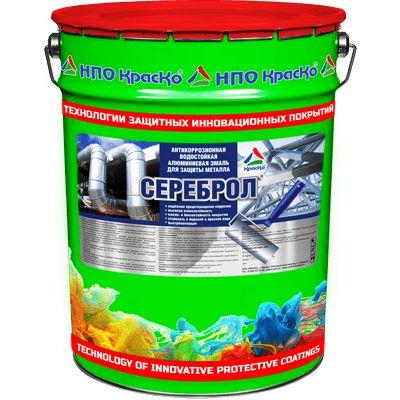 """Фото 16 - СЕРЕБРОЛ (барьер) - водостойкая алюминиевая антикоррозионная грунт-эмаль для защиты металла  """"Вес - 10 кг"""" """"КрасКо""""."""