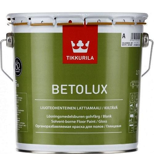 """Фото 1 - Краска Тиккурила """"Бетолюкс"""" (Betolux) уретано-алкидная полуглянцевая для пола  (База А) (0.9л) """"Tikkurila""""."""