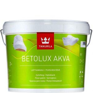 """Фото 1 - Краска Тиккурила """"Бетолюкс Аква"""" (Betolux Akva) акрилатная полуглянцевая для пола  (База А) (2.7л) """"Tikkurila""""."""