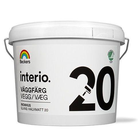 Фото 5 - Краска Беккерс Interio Vaggfarg 20 A матовая  2,7л Beckers.