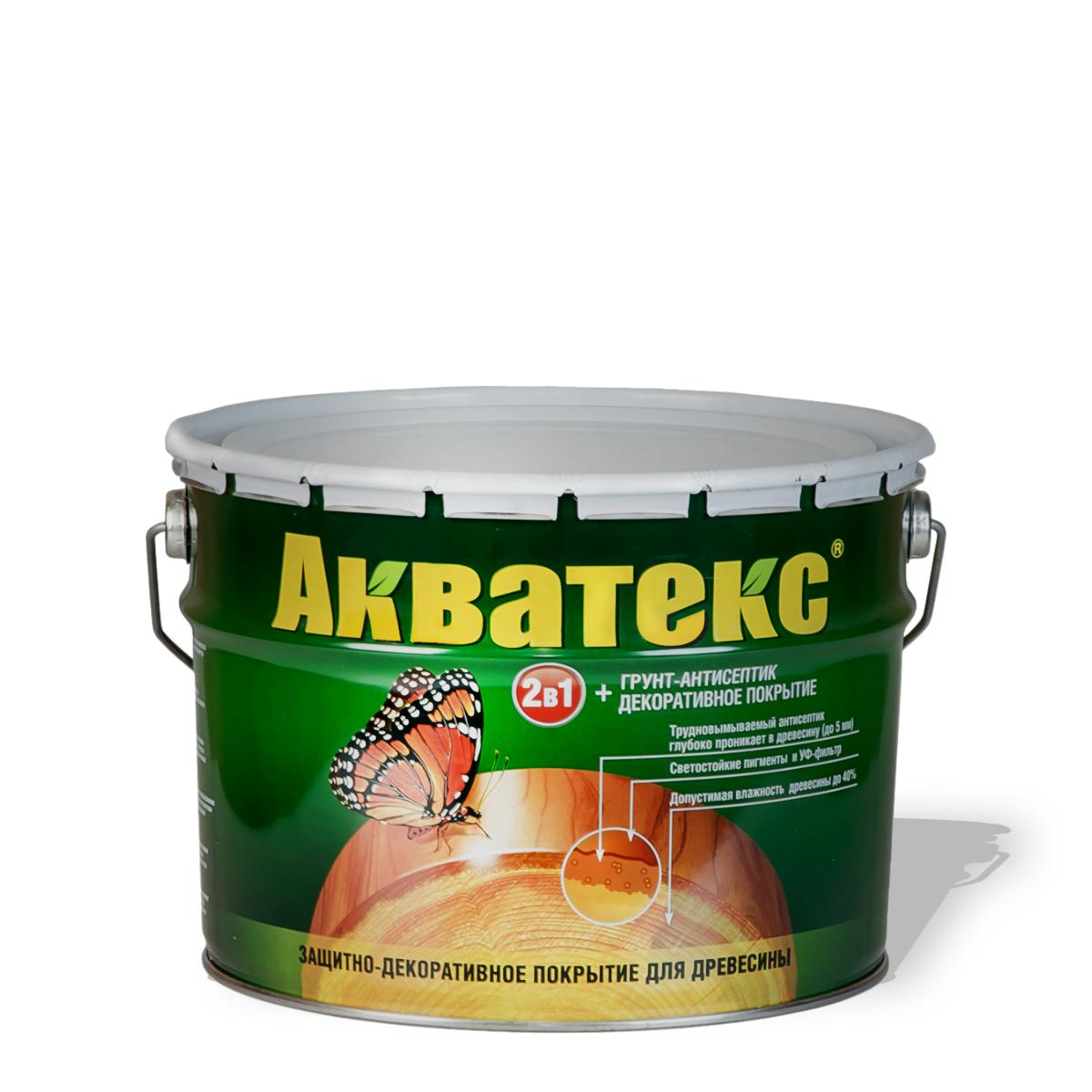 Фото 5 - Пропитка Акватекс - Цвет  Бесцветный, полуглянцевая для древесины [9 л] Рогнеда.