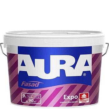 Фото 2 - Краска Aura Fasad Expo, База A, матовая, для фасадов и помещений с повышенной влажностью, 9 л.