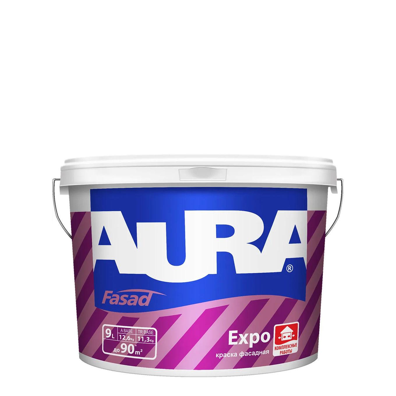 Фото 1 - Краска фасадная Aura Fasad Expo, RAL 1000, 11.5кг.