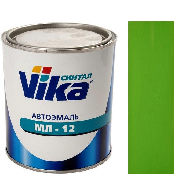 """Фото 9 - Автоэмаль """"МЛ-12 Ярко-Зелёная"""" меламиноалкидная полуглянцевая профессиональная """"Vika Синтал"""" - 0,8 кг."""