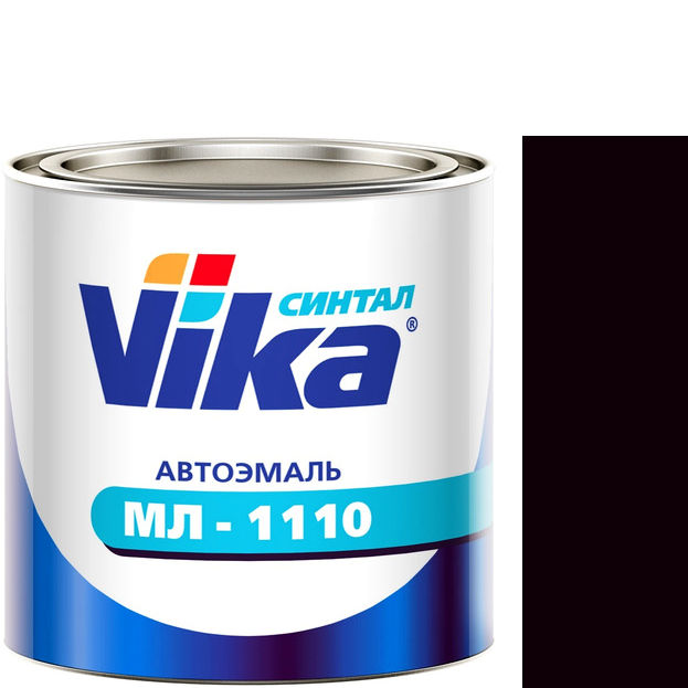 """Фото 5 - Автоэмаль """"МЛ-1110"""" 107 Баклажановая, синтетическая полуглянцевая, - 0,8 кг."""