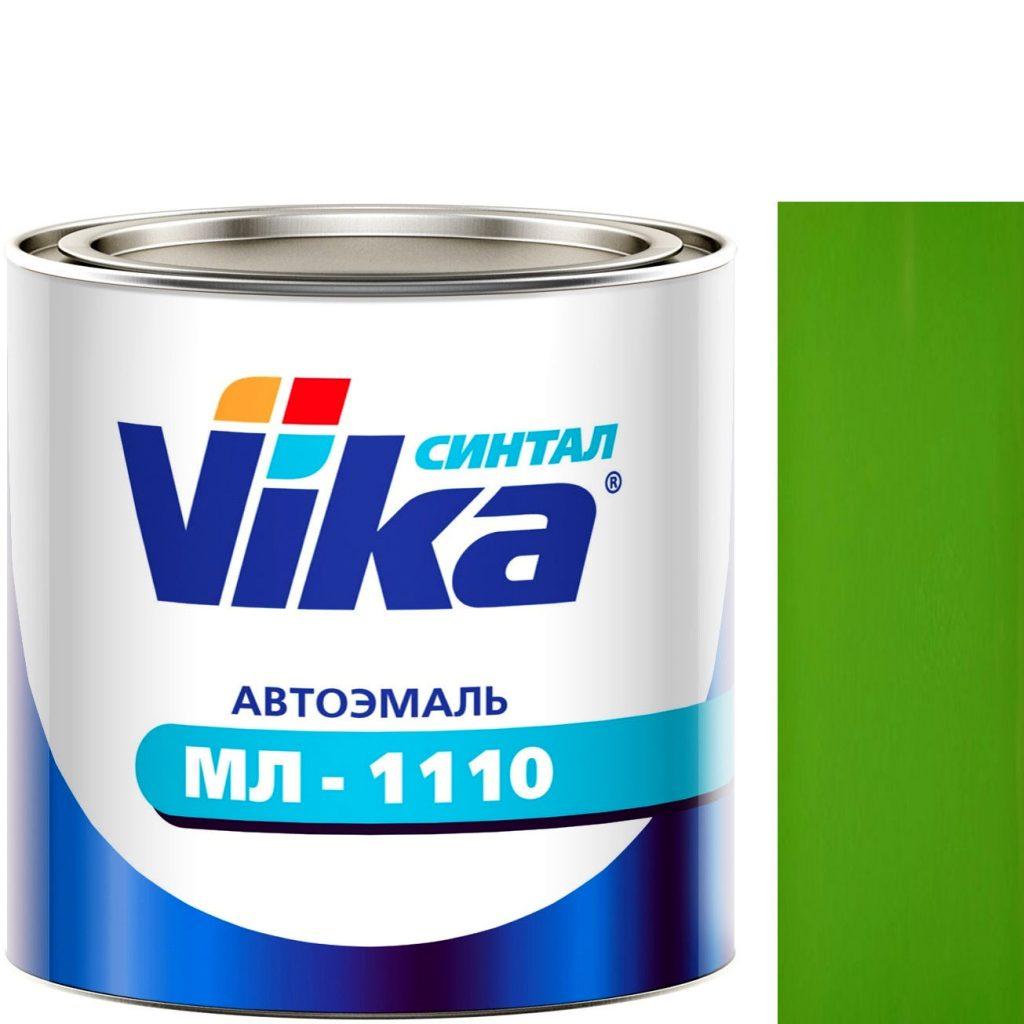 """Фото 1 - Автоэмаль """"МЛ-1110"""" Ярко-Зелёная, синтетическая полуглянцевая, - 0,8 кг."""