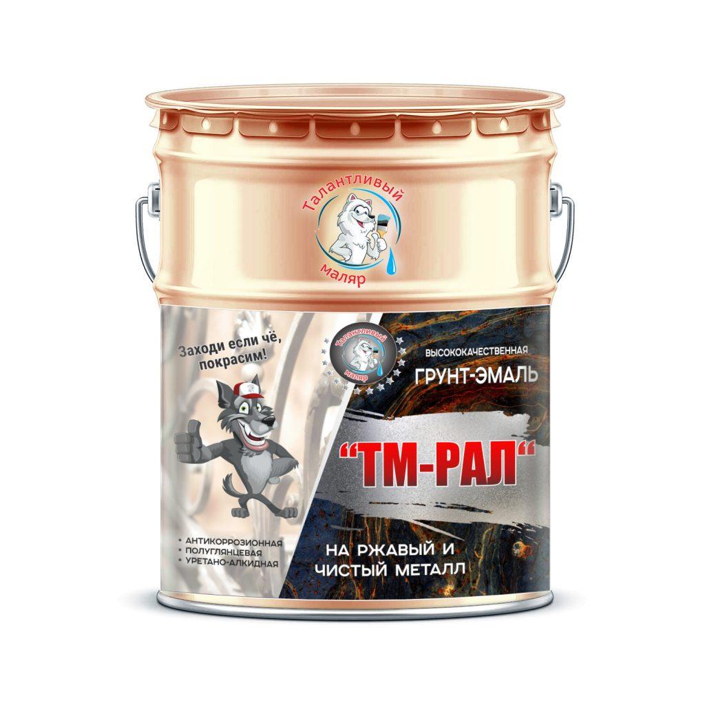 """Фото 1 - TM3012 Грунт-Эмаль """"ТМ РАЛ"""" уретано-алкидная 3 в 1 цвет RAL 3012 Бежево-красный, антикоррозионная,  полуглянцевая для черных металлов, 20 кг """"Талантливый маляр""""."""