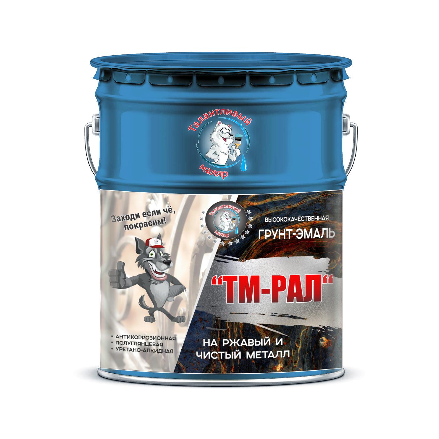 """Фото 2 - TM5001 Грунт-Эмаль """"ТМ РАЛ"""" уретано-алкидная 3 в 1 цвет RAL 5001 Зелёно-синий, антикоррозионная,  полуглянцевая для черных металлов, 20 кг """"Талантливый маляр""""."""