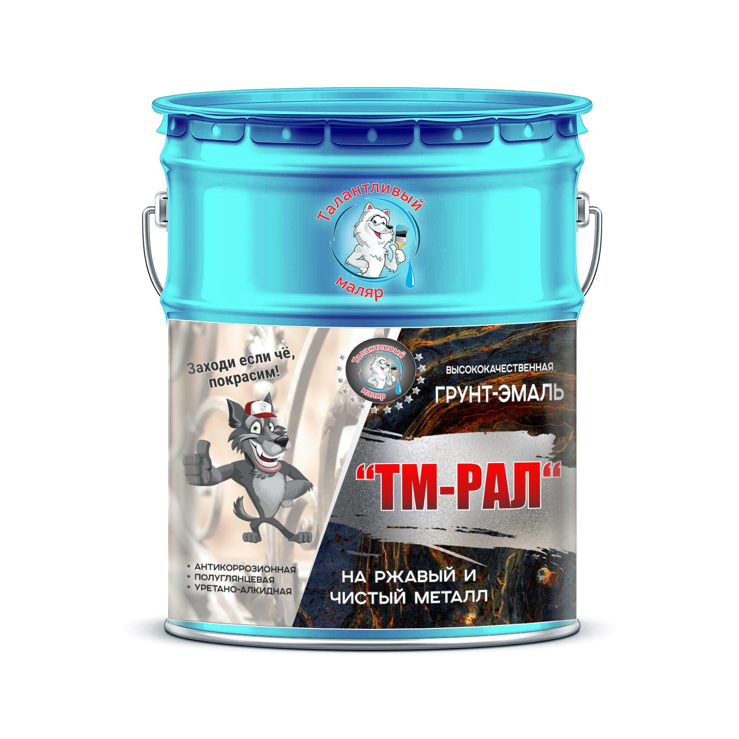 """Фото 12 - TM5012 Грунт-Эмаль """"ТМ РАЛ"""" уретано-алкидная 3 в 1 цвет RAL 5012 Голубой, антикоррозионная,  полуглянцевая для черных металлов, 20 кг """"Талантливый маляр""""."""