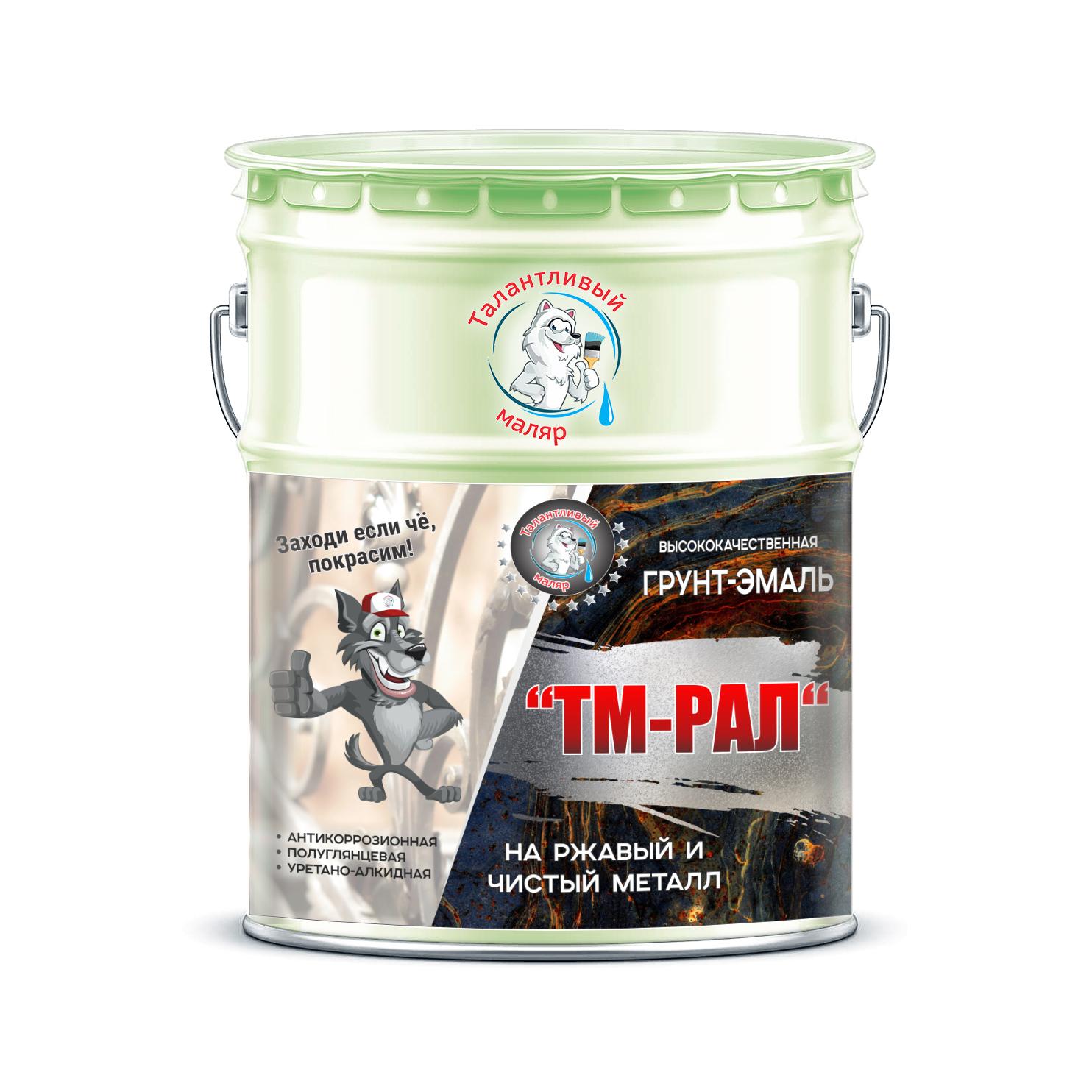 """Фото 20 - TM6019 Грунт-Эмаль """"ТМ РАЛ"""" уретано-алкидная 3 в 1 цвет RAL 6019 Бело-зелёный, антикоррозионная,  полуглянцевая для черных металлов, 20 кг """"Талантливый маляр""""."""