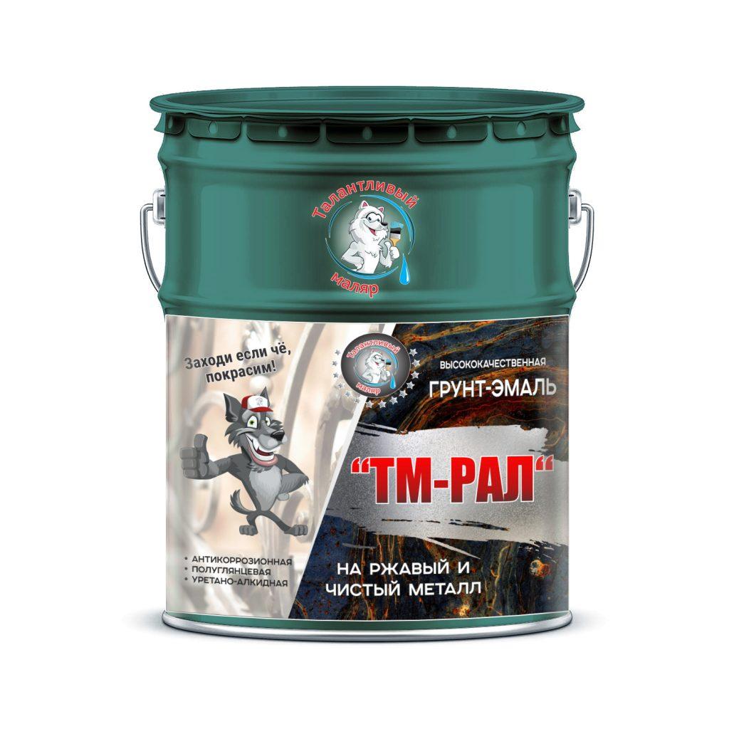 """Фото 1 - TM6033 Грунт-Эмаль """"ТМ РАЛ"""" уретано-алкидная 3 в 1 цвет RAL 6033 Бирюзовая мята, антикоррозионная,  полуглянцевая для черных металлов, 20 кг """"Талантливый маляр""""."""