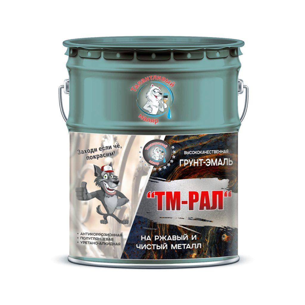 """Фото 1 - TM6034 Грунт-Эмаль """"ТМ РАЛ"""" уретано-алкидная 3 в 1 цвет RAL 6034 Пастельно-бирюзовый, антикоррозионная,  полуглянцевая для черных металлов, 20 кг """"Талантливый маляр""""."""